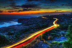 portuguese, winter photography, sunset, california, neil kremer, portugues bend, light, blues, bright colors