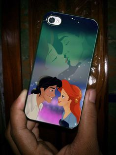 ariel and eric kissing the little mermaid new custom iPhone case for iPhone 4 case and iPhone 5 case on Etsy, $14.99