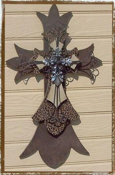 Cheetah Print Wooden Cross by wildhorsesdesign on Etsy, $125.00
