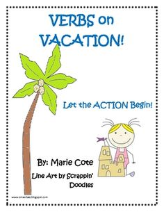 Verbs on Vacation is a packet of action verb practice exercises. This is great for first and second graders. This packet includes:Verbs Show Ac...