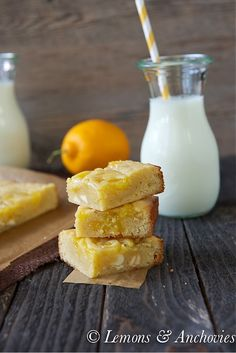 Vanilla Lemon Swirl Bars