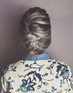 french braids, bun hairstyles, hair colors, long hair, style hair, braid bun, messy buns, hair style, beauti
