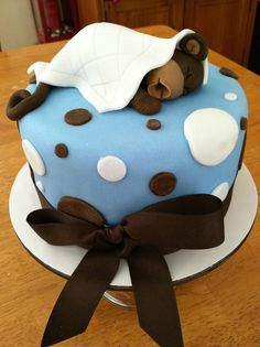 Cake I made for monkey-themed baby shower!