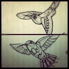 hummingbirds!!!! #hummingbird #bird #sketch #tattoo #tattoos