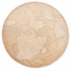 World Map Canvas Carpet
