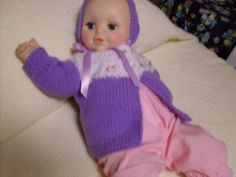 Lavendar and White Sweater Set - 0-3 months $28.00