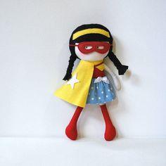 My Teeny Tiny Doll Wondergirl - Made to Order! I love her!