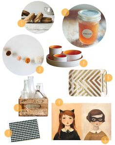 Decor picks with an autumnal feel by Casey of paper + twine.