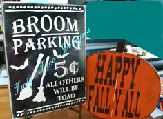 Fall signs for a customer !!