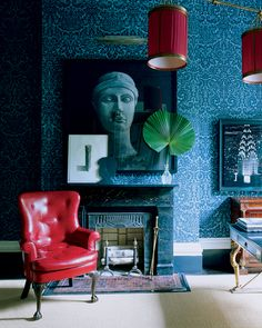 The blue room.