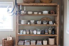 pantry shelves open shelves, kitchen shelves, pantri, kitchen storage, shelving units, organized pantry, gluten free, kitchen shelving, open shelving