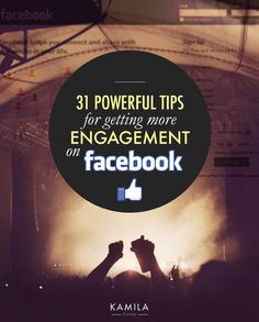 Facebook marketing - how to get engagement. #facebookmarketing