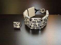 """Premo! How to use simple canes and make tiles for this """"Flower bracelet""""  #Polymer #Clay #Tutorials"""