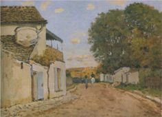 Princesse Street in Louveciennes - Alfred Sisley