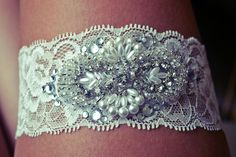 DIY wedding garter.