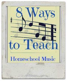 teaching music Source  http://www.quickstarthomeschool.com/2013/11/quick-ideas-for-music-class/
