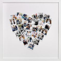 Personalized photo gift: Heart Snapshot Mix from Minted