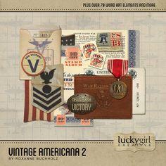 Digital Scrapbook Kit - Vintage Americana 2