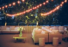 outdoor lounge area // Photography: Liz Banfield Photography // Event Planner: Tara Guérard // TheKnot.com