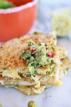 Chicken Quesadilla with Margarita Guacamole