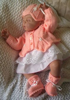 Hand Knitted Cardigan/Sweater Set 03mths or by knittingpretty0115, £15.00