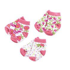 Vera Bradley Baby Socks 3 Pair 0-12M in Lilli Bell