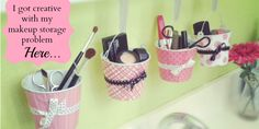 #MakeupOrganization Cute DIY makeup storage idea! Found on Twoindiapers.com