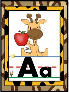 Decorate your jungle themed classroom and help students learn capital and lowercase letters and letter sounds with these fun alphabet posters.