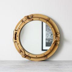 vintage ship mirror