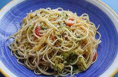 Angel Hair with Zucchini and Tomatoes — Punchfork