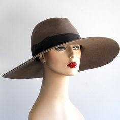 Wide Brimmed Fedora Hat Women Fall Fashion Winter by KatarinaHats