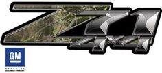 camo chevy emblem | Real Camo 4x4 Bedside Chevy Z71 Decals