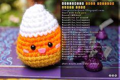 """Free pattern : Kawaii Halloween !! by """"Amigurumi Food"""""""