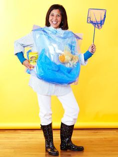 Spooky wearables on pinterest diy halloween costumes for Fish costume for adults