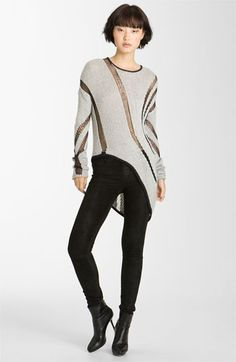Helmut Lang Intarsia Asymmetrical Sweater available at Nordstrom