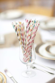 Different color/pattern straws