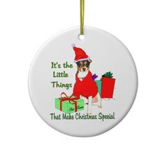 Rat Terrier Christmas Gifts Ornament
