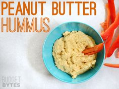 Can't find tahini for a reasonable price or even at all? Try peanut butter in your hummus instead. SNAP Challenge: Peanut Butter Hummus - Budget Bytes