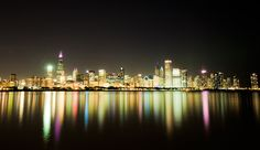 cityscapes, chicago reflect, chicago cityscap, beauti place, lakes, city lights, citi life, toni katai, canvases