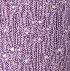 knit stitch, stitch pattern, knitstitch, eyelet pattern