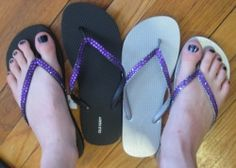 Make Your Own Bedazzled Flip Flops