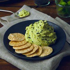 Edamame Wasabi Hummus HealthyAperture.com