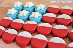 Memorial & July 4th Idea:  American Flag Oreos. patriot treat, flag oreo, flour, flags, chocolates, american flag, chocolate dipped, 4th of july, oreos