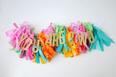 a pretty cool life.: party diy: colorful fringe tassel garland