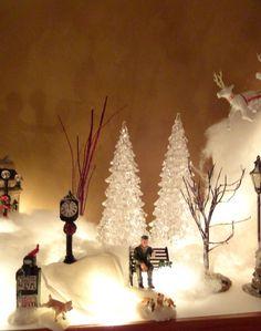 christma villag, bad dog, christmas villages