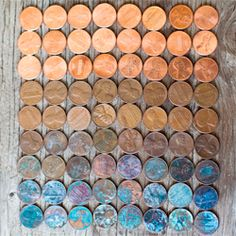 ombre pennies