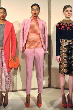 J.Crew, Fall 2012 #nyfw #pink #jacket #pants