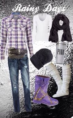 This would make a great rainy day outfit!!