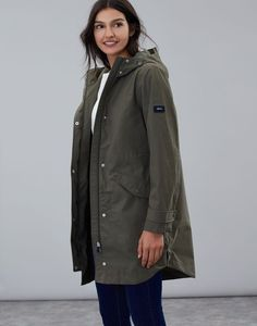 Joules UK Loxley Womens Longline Waterproof Jacket GRAPE LEAF