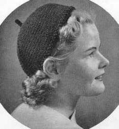 Vintage Calot Hat free crochet pattern
